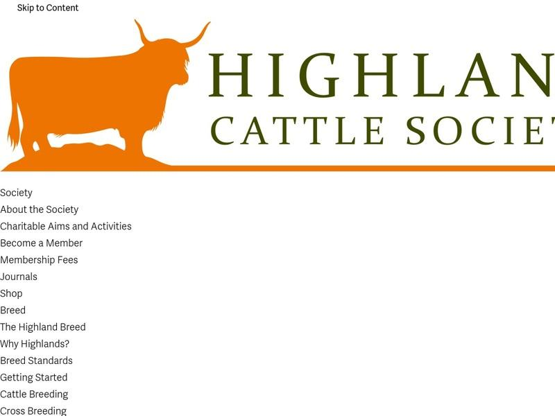 Screenshot von http://www.highlandcattlesociety.com/